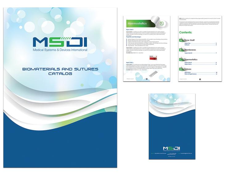 עיצוב קטלוג רפואי - MSDI