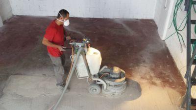 הסרת צבע אפוקסי במכונת ליטוש, ליטוש בטון