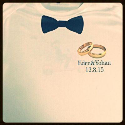 עיצוב חולצות לחתונה