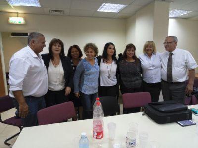 """עו""""ד סביר ונציגי סיעת נחל בבית הדין"""