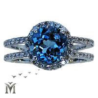 טבעת יהלומים, טבעת אירוסין, טבעת יהלום אבן כחולה