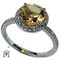 טבעת יהלומים, טבעת אירוסין, טבעת יהלום אבן צהובה