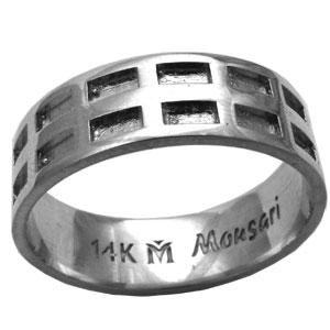 טבעת לגבר, טבעת כסף לגבר, מתנה לגבר, שבתאי