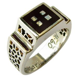 טבעת לגבר, טבעת אמאייל לגבר, מתנה לגבר, שנהב