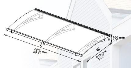 גגון לחלון | גגון כניסה אקילה 2050 | צוות גדרון